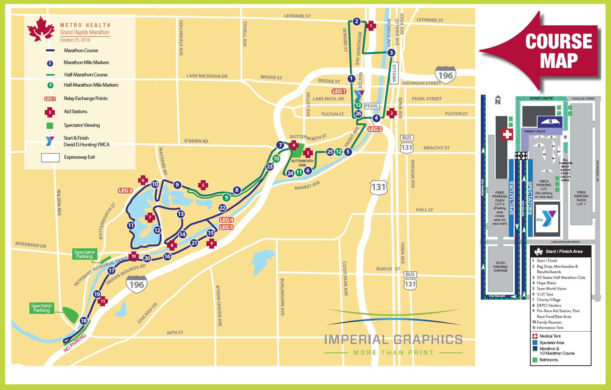 coursemap. coursemap  grand rapids marathon